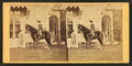 Girl on horseback in front of house, from Robert N. Dennis collection of stereoscopic views 2.png