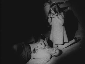 Zombie - A young zombie (Kyra Schon) feeding on human flesh, from Night of the Living Dead (1968)