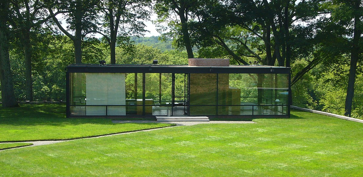 Glass house wikipedia for The glass house plan