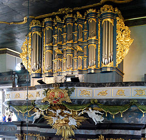 1779 in Norway - The organ in Kongsberg Church, built by Gottfried Heinrich Gloger