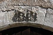 Gościszów Ruiny zamku ksiazecego portal bramy glownej dekoracja rzezbiarska.JPG