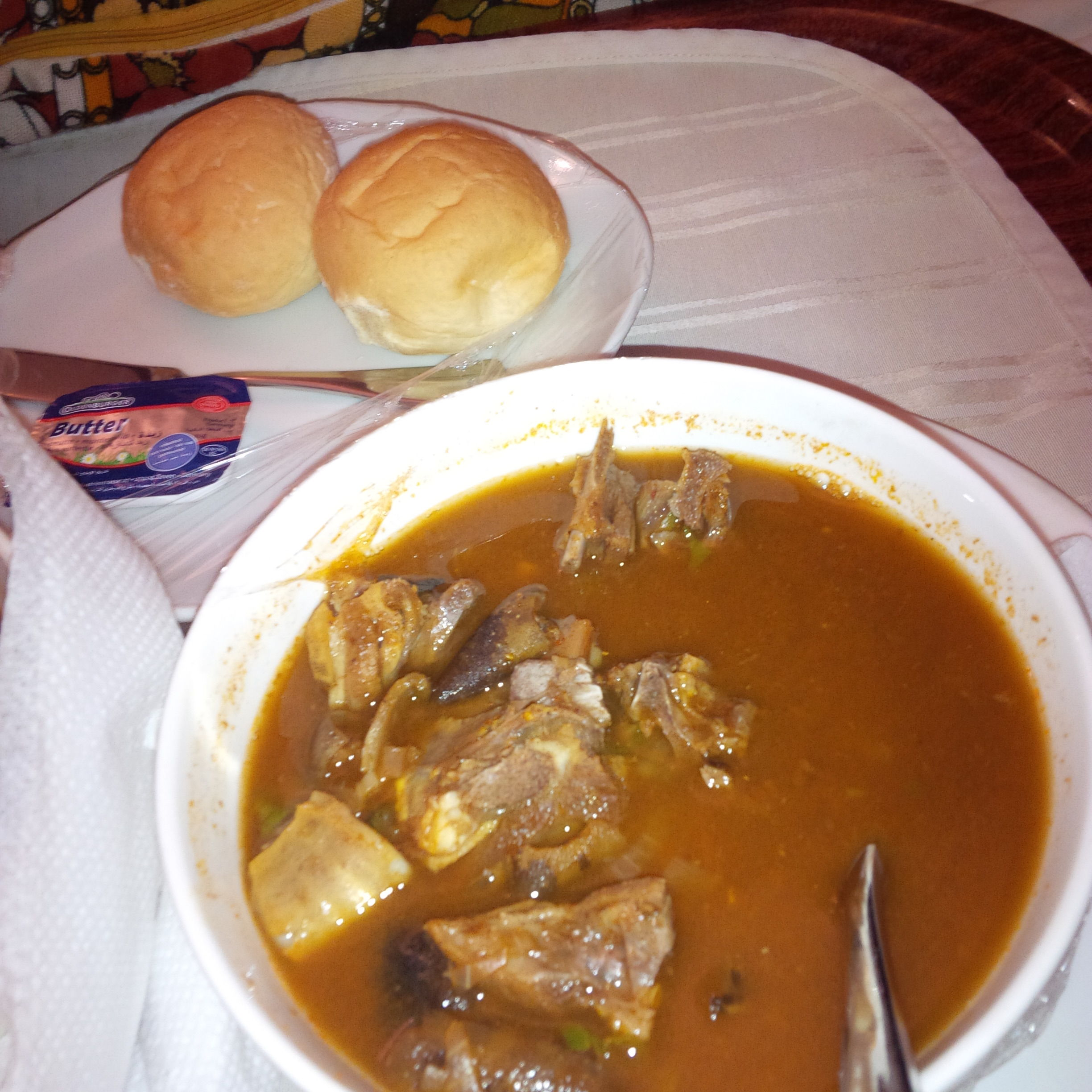 File Goat Meat Pepper Soup Served With Bread Jpg