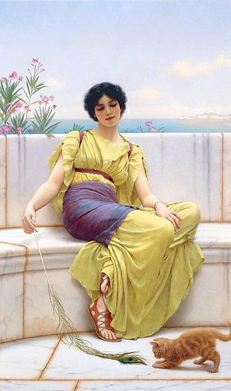 Conspicuous leisure - Idleness, by John William Godward, ca 1900