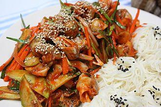 Golbaengi-muchim - South Korean-style golbaengi-muchim