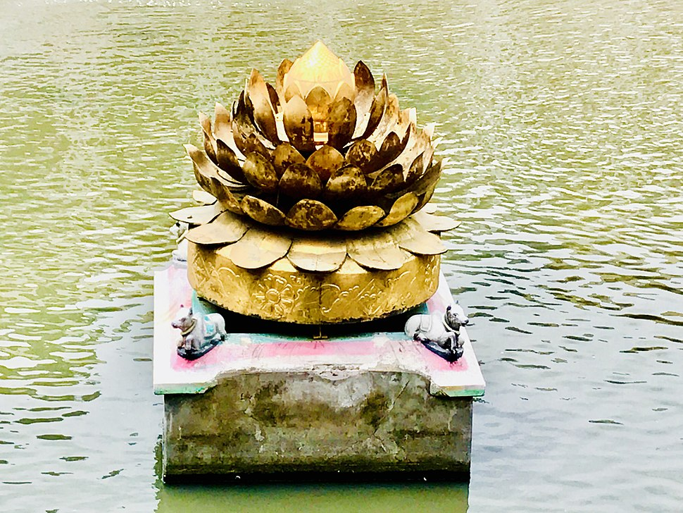 Golden Lotus in Meenakshi Amman Temple