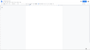 An example of a document in Google Docs