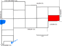 Location of Goshen Township in Auglaize County