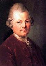 Gotthold Ephraim Lessing, peinture par Anton Graff, 1771.