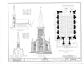 Grace Episcopal Church, South Prospect Street, Galena, Jo Daviess County, IL HABS ILL,43-GALA,11- (sheet 2 of 5).png
