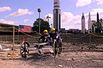 Graff Career Center Navigates Crater in the Great Moonbuggy Race 1999.jpg