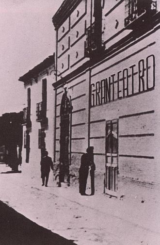 Getafe - Getafe's Gran Teatro (Great Theater) at the end of the 19th century.