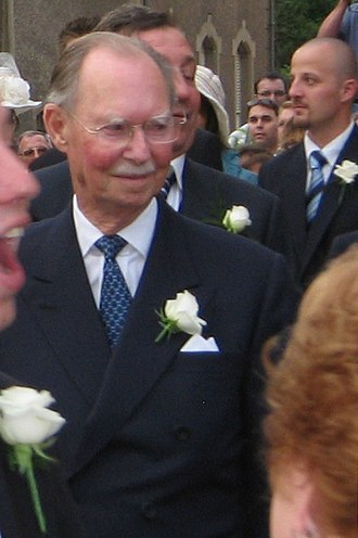 Jean, Grand Duke of Luxembourg - Jean at the wedding of his grandson   Prince Louis of Luxembourg, 29 September 2006