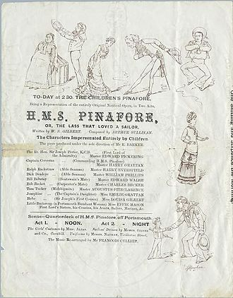 H.M.S. Pinafore - 1880 programme for Carte's Children's Pinafore