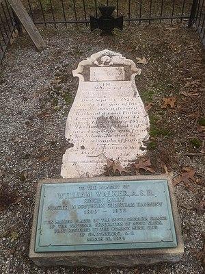 William Walker (composer) - Walker's grave in Spartanburg