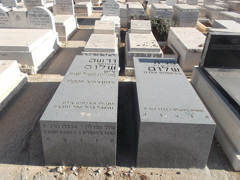 Graves of Gershom and Fania Scholem