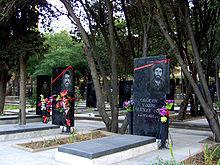 Gravestones of Azeri soldiers died in Karabakh war