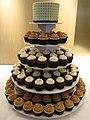Green Square Pattern Wedding Cupcakes (4854732527).jpg