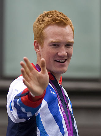 Greg Rutherford - Rutherford at the victory parade for the 2012 Summer Olympics