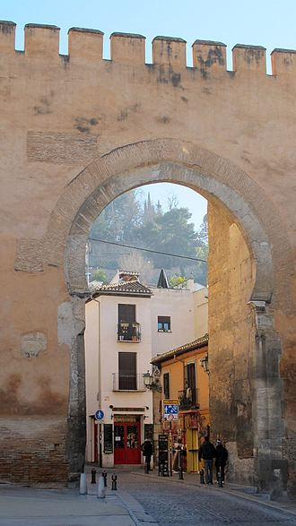 Synod of Elvira - If the ancient Roman city of Elvira was located in the Albaicín district of Granada, as some think, the synod may have taken place just inside the Puerta de Elvira (eleventh-century), seen here.