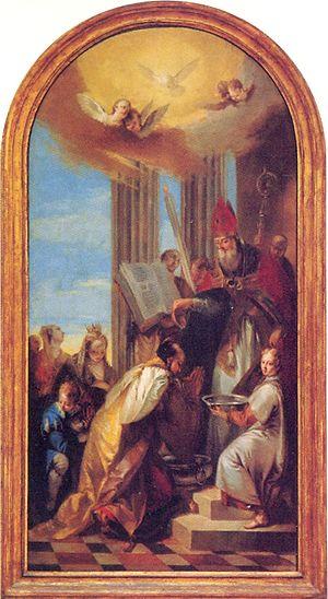 Tiridates III of Armenia - Image: Grigor Illuminator baptizes Tiridates III of Armenia