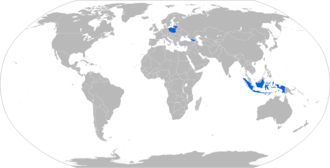 Grom (missile) - Map with Grom operators in blue