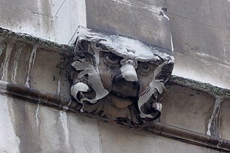 St Alban, Wood Street - A grotesque on the southern side of the tower