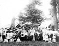 Group of men, women and children at a church social in Wildwood Park, Washington, 1900 (WASTATE 1822).jpeg