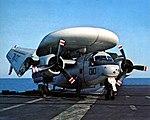 Grumman E-1B Tracer of VAW-111 aboard USS Coral Sea (CVA-43) in 1973.jpg