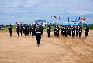 Bangladesh UN Peacekeeping Force - Image: Guard of Honour during UN Medal Awarding Parade at Bunia