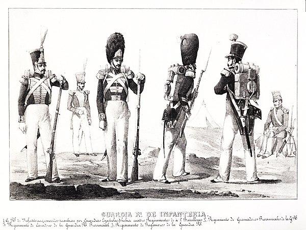 Guardia Real infanteria-album