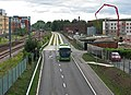 Guided bus approaching Hills Road Bridge - geograph.org.uk - 2543888.jpg