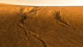 Gullies on Central Uplift of Lyot Crater.png