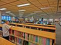 HKUST 香港科技大學 Library 圖書館 interior bookcase n visitor Sept-2013.JPG
