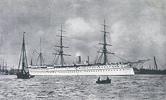 Arthur Dalrymple Fanshawe - Image: HMS Malabar (1865)