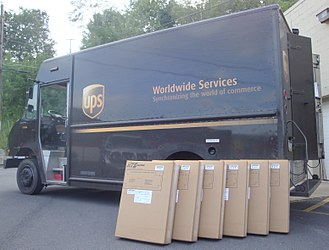 United Parcel Service - UPS delivery van with packages in 2013
