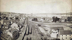 Halifax, Nova Scotia, looking north from a grain elevator towards Acadia Sugar Refinery, ca. 1900.jpg