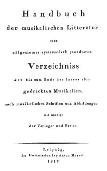 Musikbücher 18001900 Wikisource