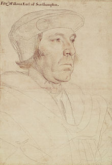 Hans Holbein la malpliaĝa - William Fitzwilliam, Grafo de Southampton RL 12206.jpg