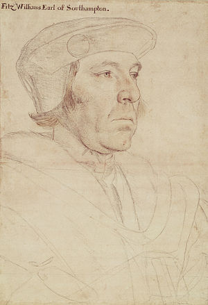 William FitzWilliam, 1st Earl of Southampton - Portrait of William Fitzwilliam, Earl of Southampton, by Hans Holbein the Younger