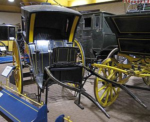 Hansom cab - A hansom cab on display in the Mossman Collection at the Stockwood Discovery Centre, Luton, England