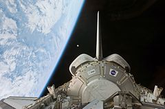 Harmony node in Space Shuttle Discovery's payload bay.jpg