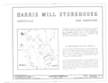 Harris Mill Storehouse, Main and Prospect Streets, Harrisville, Cheshire County, NH HABS NH,3-HAR,2- (sheet 1 of 2).png