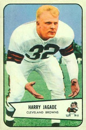 Chick Jagade - Jagade on a 1954 Bowman football card