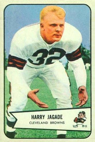 Chick Jagade - Jagade on a 1954 Bowman football card