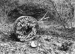 Hauns Mill memorial