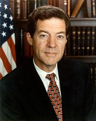 1998 United States Senate election in Kansas - Image: Head shot of Senator Sam Brownback