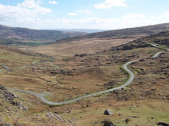 R574 road (Ireland) - Cork side of the Healy Pass