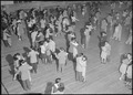 Heart Mountain Relocation Center, Heart Mountain, Wyoming. Dancing is one of the chief forms of rec . . . - NARA - 539475.tif
