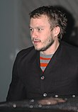 Photo of Heath Ledger attending the Berlin Film Festival in 2006.