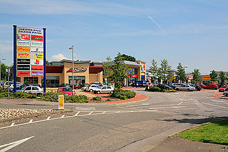 Borough of Eastleigh - Hedge End Trade Park is part of a large retail development